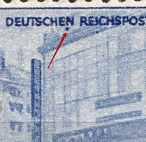 1944 6pf Third Reich, Germany (Mi. 888 I, Dot under `n`, Print Error, CV $90, MNH)