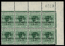 Bahamas, 1942, 450th Anniv of the Landing of Columbus in America, ovpt on ½p