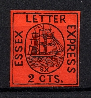 2c Essex Letter Express, USA, Local