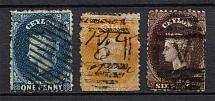 1867-70 Ceylon, British Colonies (Canceled, CV £40)