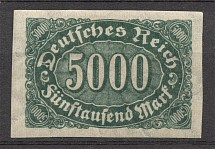 1922-23 Germany Imperf 5000 Mark (CV $100)