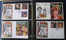 Collections/Mixed Lots 1987 Queen's 60th Birthday, album of 55 um Commonwealth s