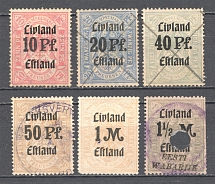 Livonia Baltic Fiscal Revenue Group of Stamps (Cancelled)