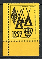 1959 Germany Scouts Displased Persons Camp Retournemer Yellow (MNH)