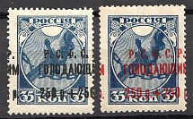 1922 RSFSR Charity Semi-postal Issue (Shifted Overprints)