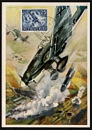 1943 Wehrmacht Souvenir Postcard Dive bombers in attack