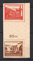 1946 Thuringia, Soviet Russian Zone of Occupation, Germany (Control Number, Gutter-Pair, CV $25, MNH)