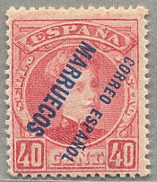 1903/09, 40 c., rose, inverted overprint, MNH, VF! Estimate 250€.  Automatisch g