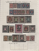 Nikolaevsk on the Amur - 26 stamps (23 are fake (old fake), 3 are real). Ancient falsity, a rarity in this quality and